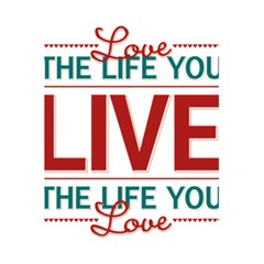 Love The Life You Live 5 5  X 8 5  Notebooks