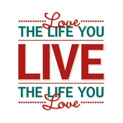 Love The Life You Live Magic Photo Cubes