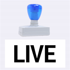 Love The Life You Live Rubber Stamps (Large)