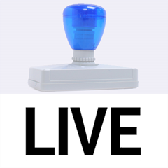Love The Life You Live Rubber Address Stamps (XL)