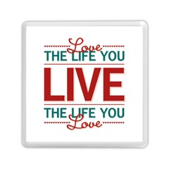 Love The Life You Live Memory Card Reader (Square)