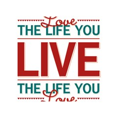 Love The Life You Live Birthday Cake 3D Greeting Card (7x5)