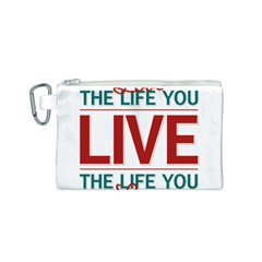 Love The Life You Live Canvas Cosmetic Bag (S)