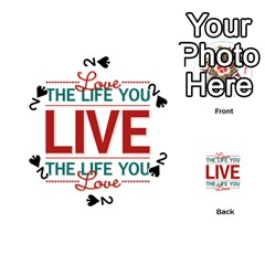 Love The Life You Live Playing Cards 54 (Round)