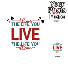 Love The Life You Live Playing Cards 54 (heart)