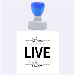 Love The Life You Live Rubber Round Stamps (Large)