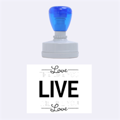 Love The Life You Live Rubber Oval Stamps