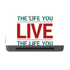 Love The Life You Live Memory Card Reader with CF