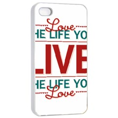 Love The Life You Live Apple iPhone 4/4s Seamless Case (White)