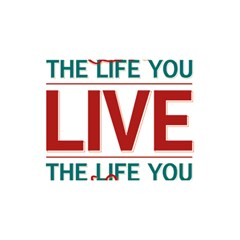 Love The Life You Live You Are Invited 3d Greeting Card (8x4)