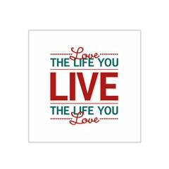 Love The Life You Live Satin Bandana Scarf