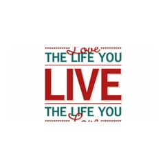 Love The Life You Live Satin Wrap