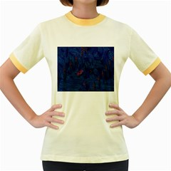 Blue Sphere Women s Fitted Ringer T-Shirts