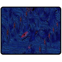 Blue Sphere Fleece Blanket (medium)