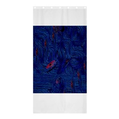 Blue Sphere Shower Curtain 36  x 72  (Stall)