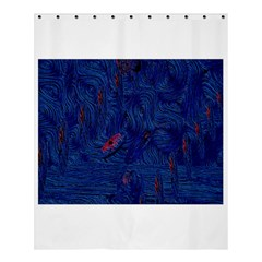 Blue Sphere Shower Curtain 60  x 72  (Medium)