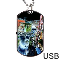 Colour Street Top Dog Tag Usb Flash (one Side)