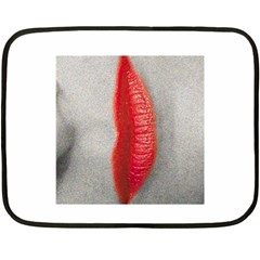 Lips Fleece Blanket (mini)