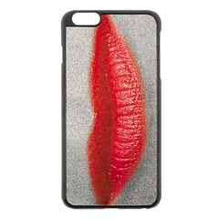 Lips Apple Iphone 6 Plus Black Enamel Case