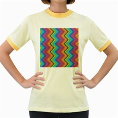 Aztec 3 Women s Fitted Ringer T-Shirts