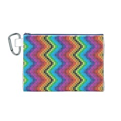 Aztec 3 Canvas Cosmetic Bag (M)