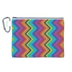 Aztec 3 Canvas Cosmetic Bag (L)