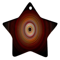 Colour Twirl Star Ornament (two Sides)