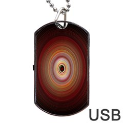 Colour Twirl Dog Tag Usb Flash (one Side)