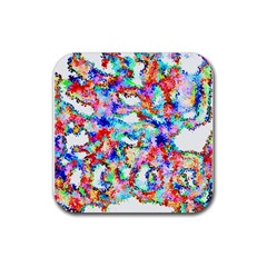 Soul Colour Light Rubber Coaster (square)