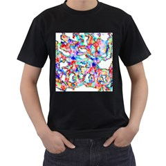 Soul Colour Light Men s T-Shirt (Black) (Two Sided)