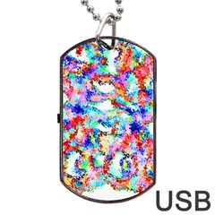 Soul Colour Light Dog Tag USB Flash (Two Sides)