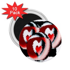Heart Time 3 2 25  Magnets (10 Pack)
