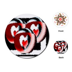 Heart Time 3 Playing Cards (Round)