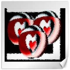 Heart Time 3 Canvas 20  X 20