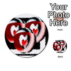 Heart Time 3 Multi-purpose Cards (Round)