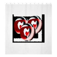 Heart Time 3 Shower Curtain 66  x 72  (Large)