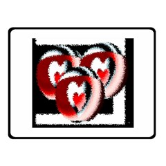 Heart Time 3 Fleece Blanket (Small)