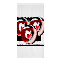 Heart Time 3 Shower Curtain 36  X 72  (stall)