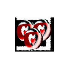 Heart Time 3 Shower Curtain 48  x 72  (Small)
