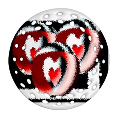 Heart Time 3 Ornament (Round Filigree)