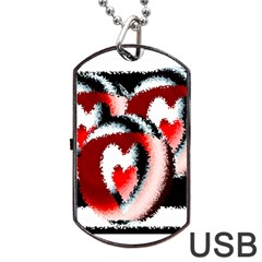 Heart Time 3 Dog Tag USB Flash (One Side)