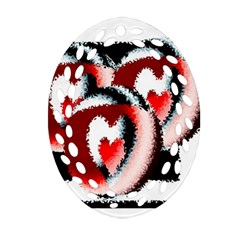 Heart Time 3 Oval Filigree Ornament (2-Side)