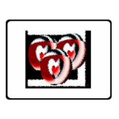 Heart Time 3 Double Sided Fleece Blanket (Small)