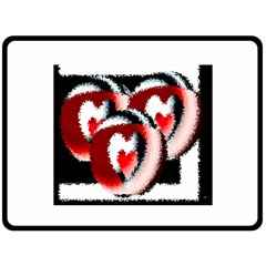 Heart Time 3 Double Sided Fleece Blanket (Large)