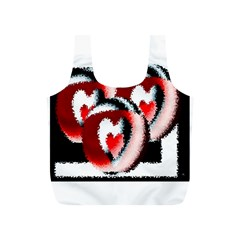 Heart Time 3 Full Print Recycle Bags (s)