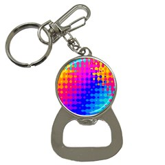 Totally Trippy Hippy Rainbow Bottle Opener Key Chains