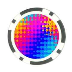Totally Trippy Hippy Rainbow Poker Chip Card Guards