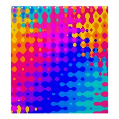 Totally Trippy Hippy Rainbow Shower Curtain 66  x 72  (Large)