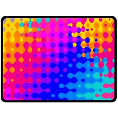 Totally Trippy Hippy Rainbow Fleece Blanket (large)