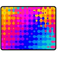 Totally Trippy Hippy Rainbow Fleece Blanket (Medium)